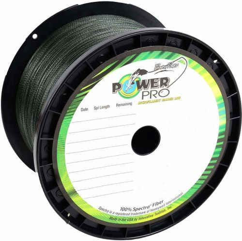 Power Pro Spectra Fiber Braided Fishing Line Moss Green 1500 YDS